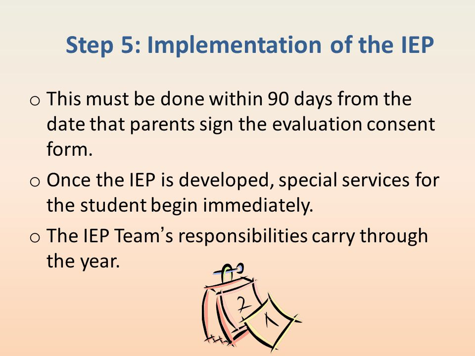 Step 5: Implementation of the IEP