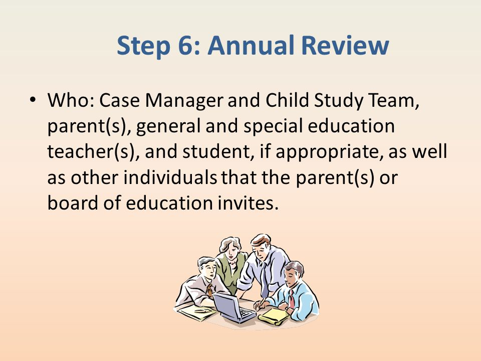 Step 6: Annual Review