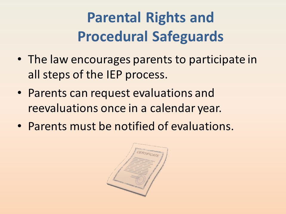 Parental Rights and Procedural Safeguards
