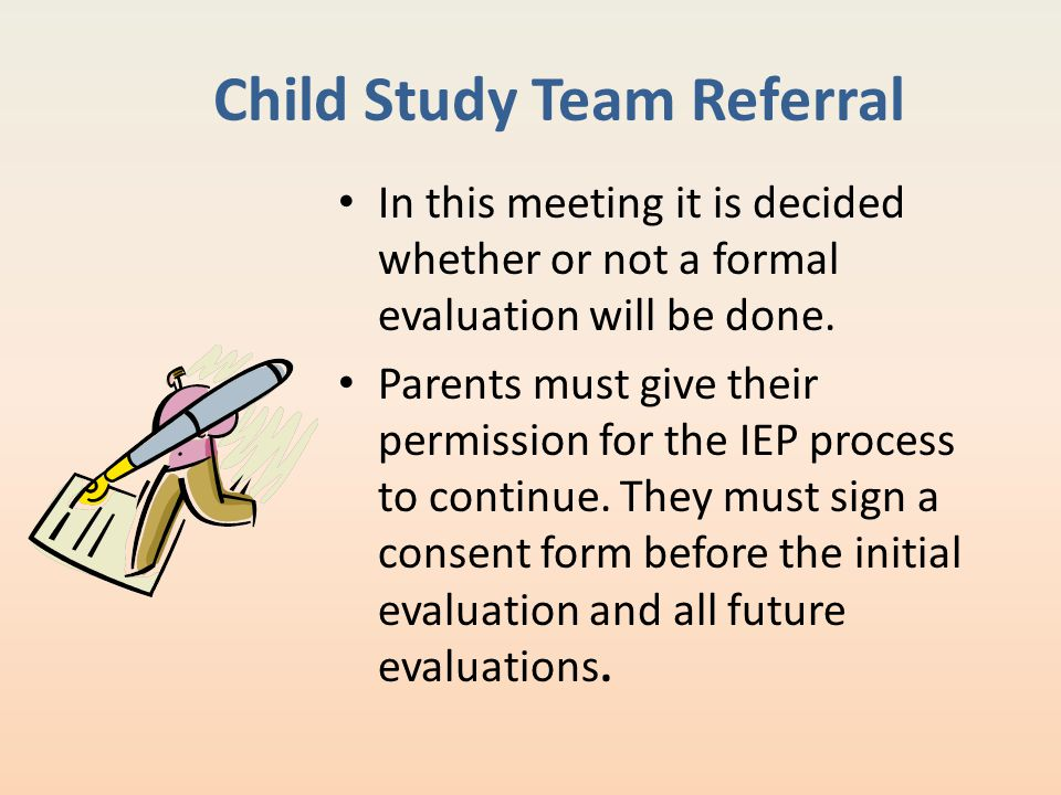 Child Study Team Referral