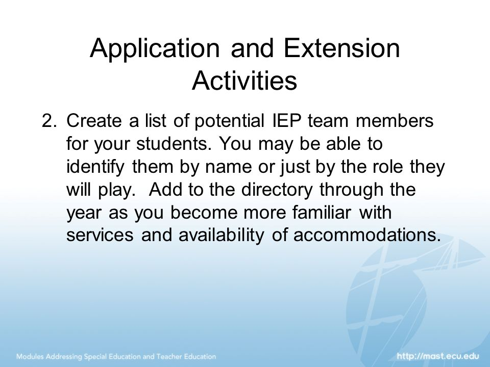 Application and Extension Activities