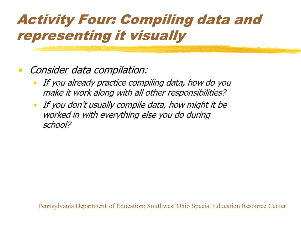 Activity Four: Compiling data and representing it visually