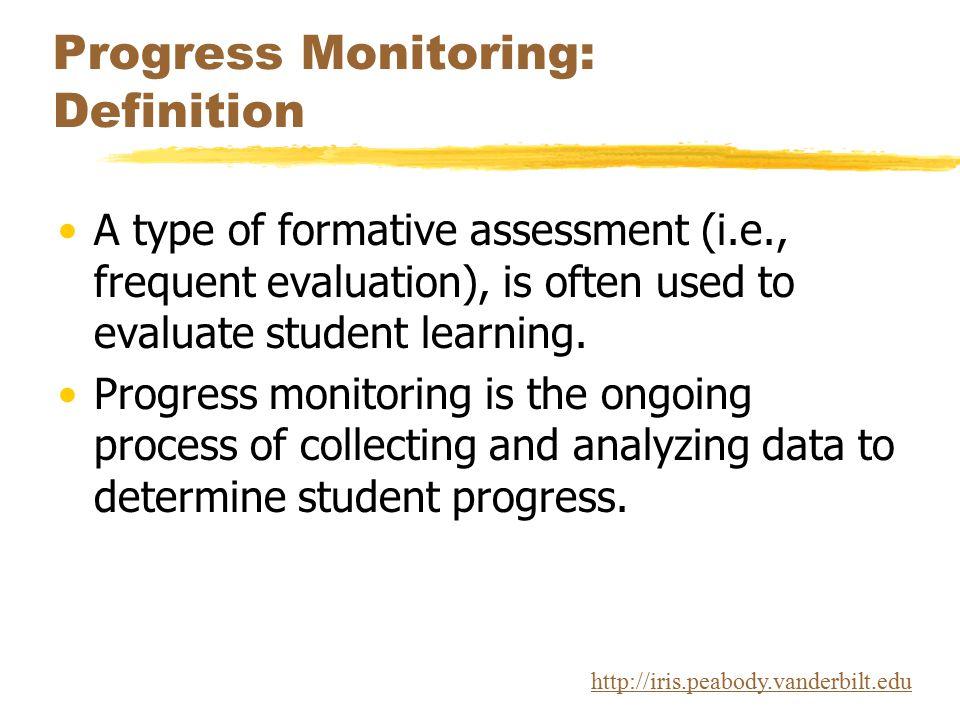 Progress Monitoring: Definition