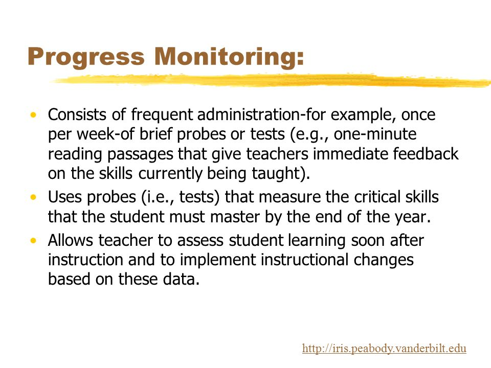 Progress Monitoring: