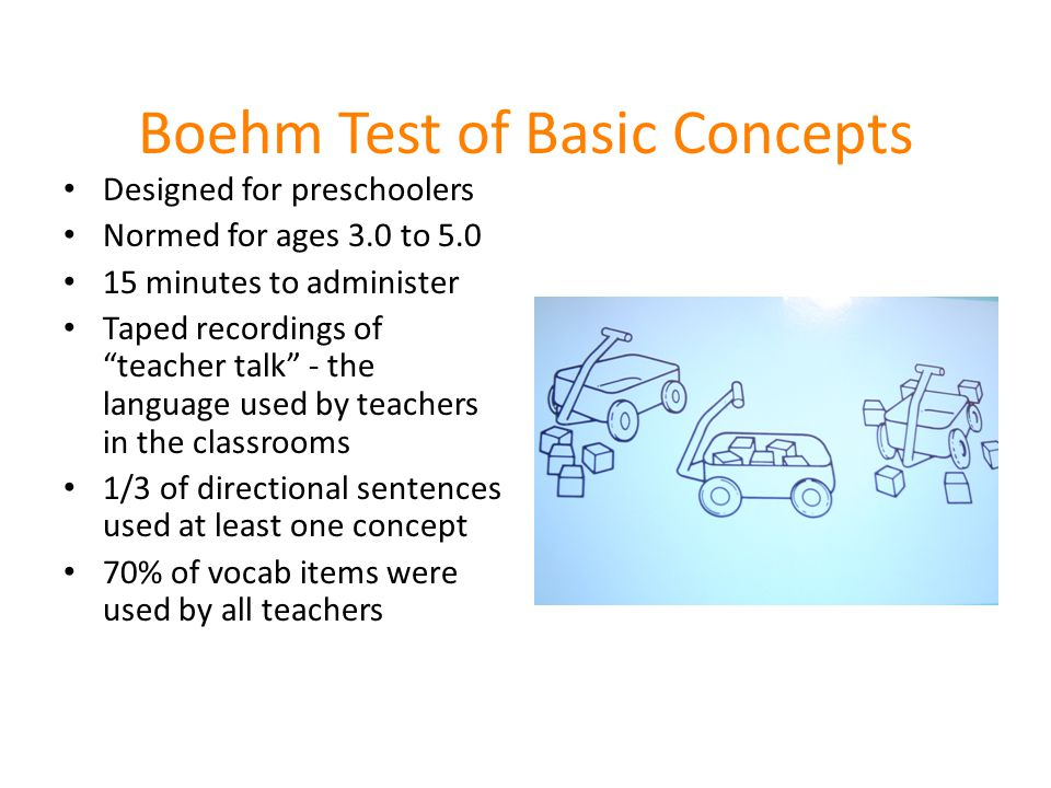 Boehm Test of Basic Concepts