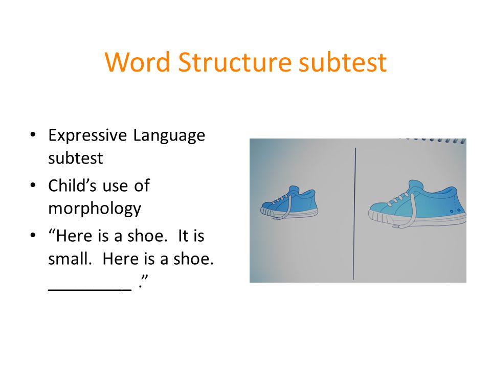 Word Structure subtest