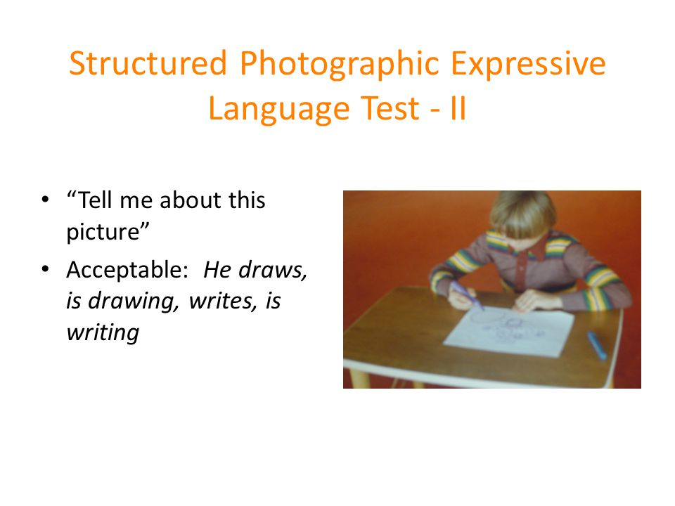 Structured Photographic Expressive Language Test - II