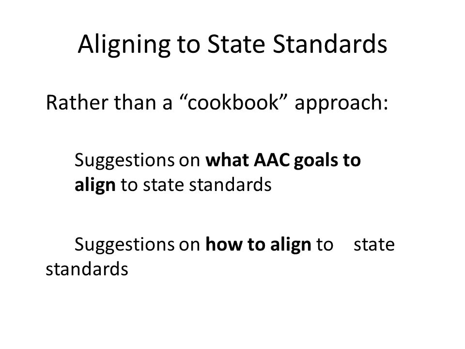 Aligning to State Standards
