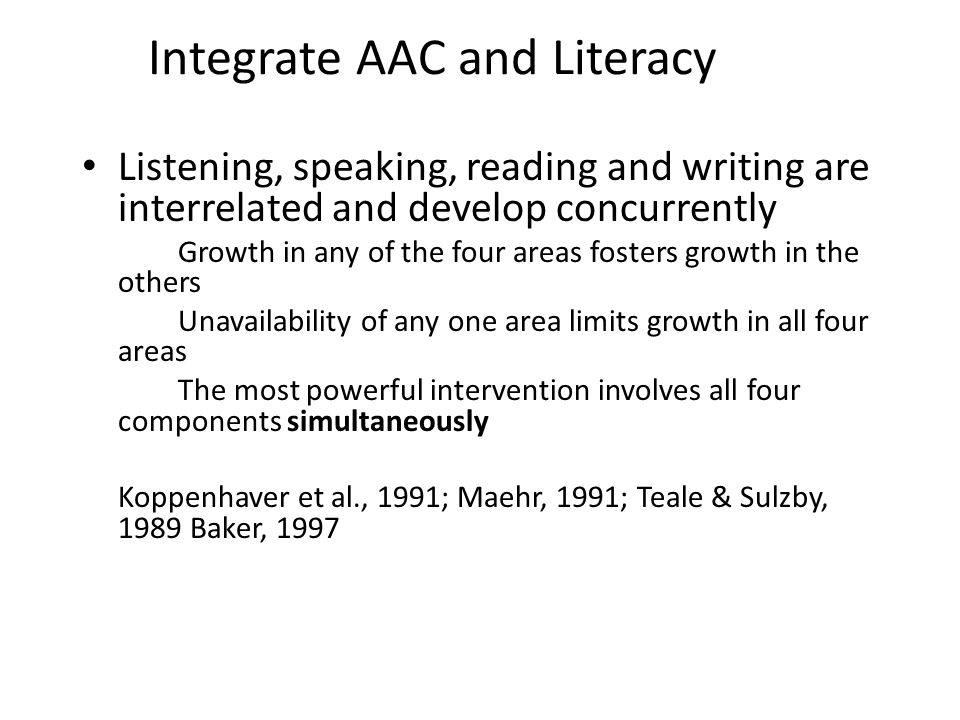 Integrate AAC and Literacy