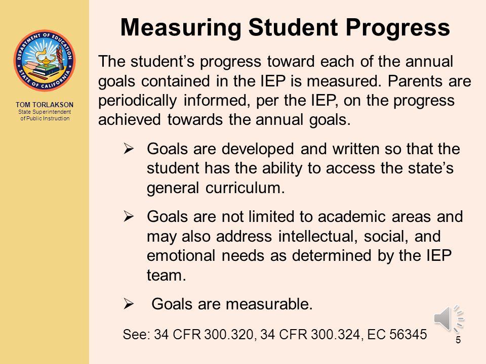 Measuring Student Progress