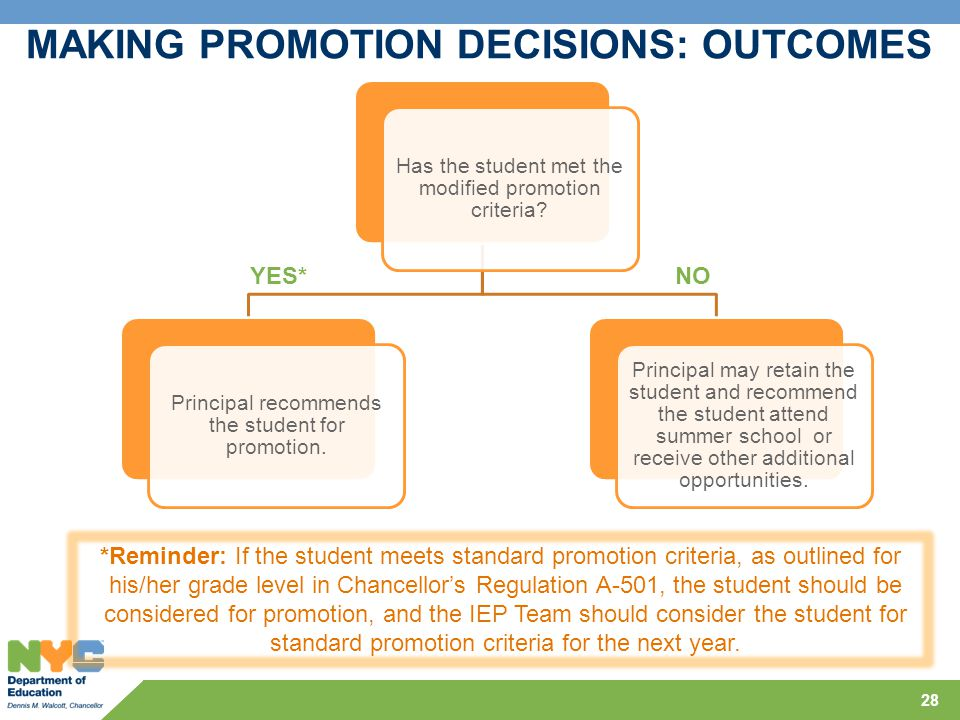 MAKING PROMOTION DECISIONS: OUTCOMES