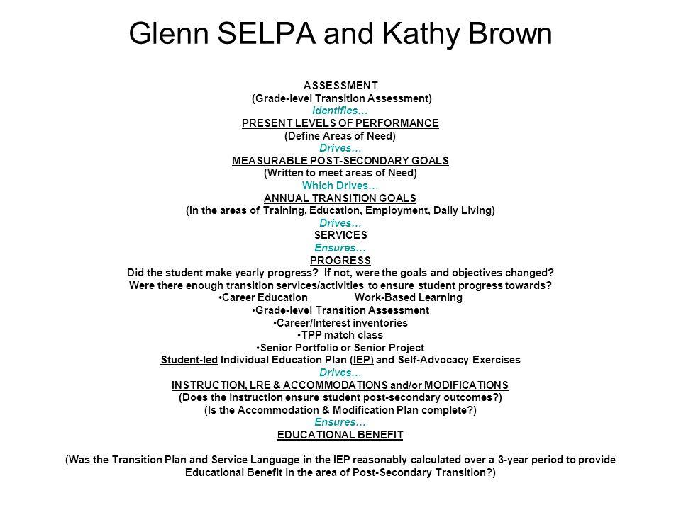 Glenn SELPA and Kathy Brown