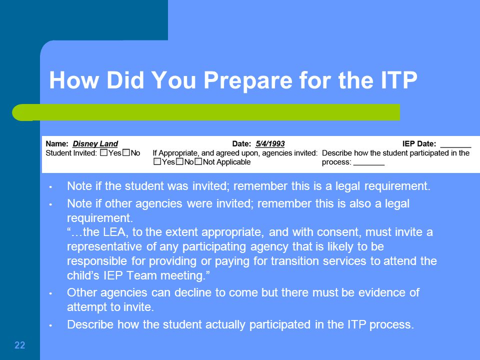 How Did You Prepare for the ITP