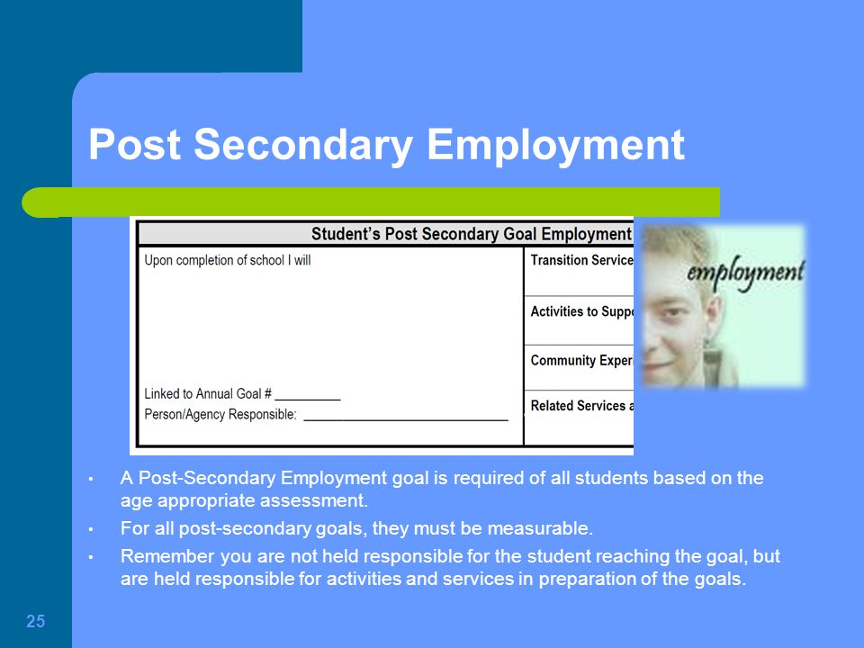 Post Secondary Employment