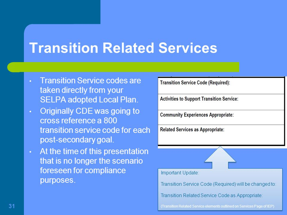 Transition Related Services