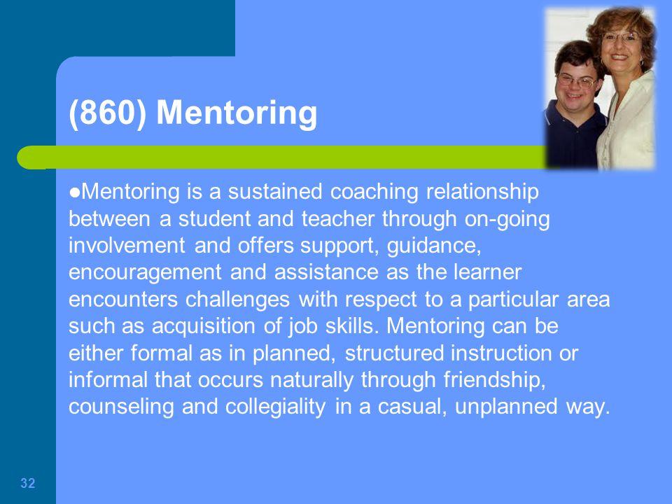 (860) Mentoring