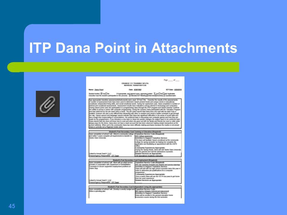 ITP Dana Point in Attachments