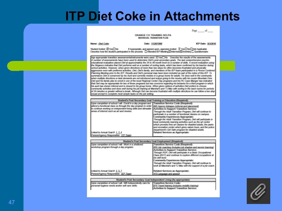 ITP Diet Coke in Attachments