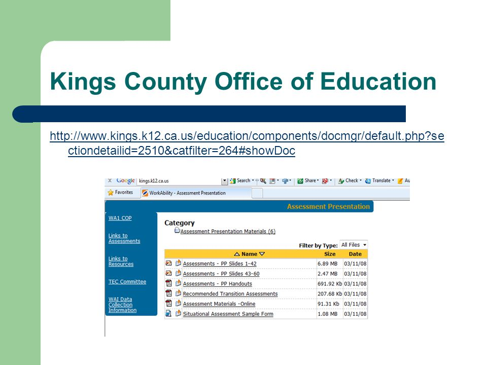 Kings County Office of Education
