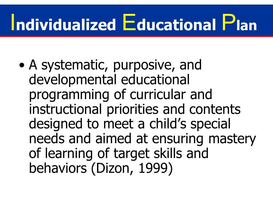 Individualized Educational Plan