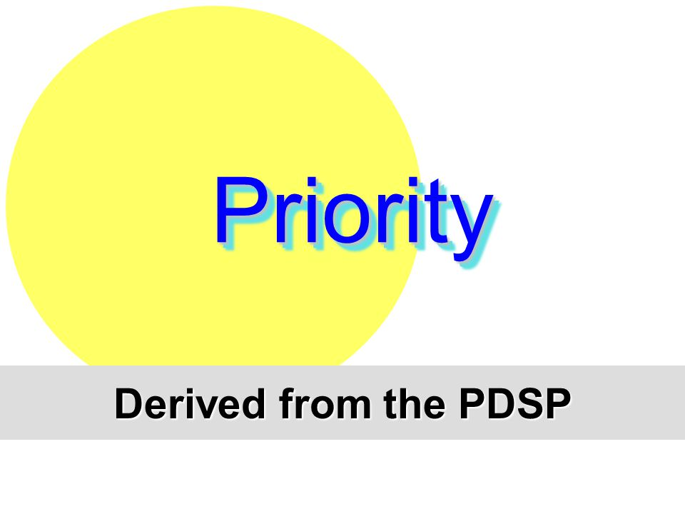 Priority Derived from the PDSP