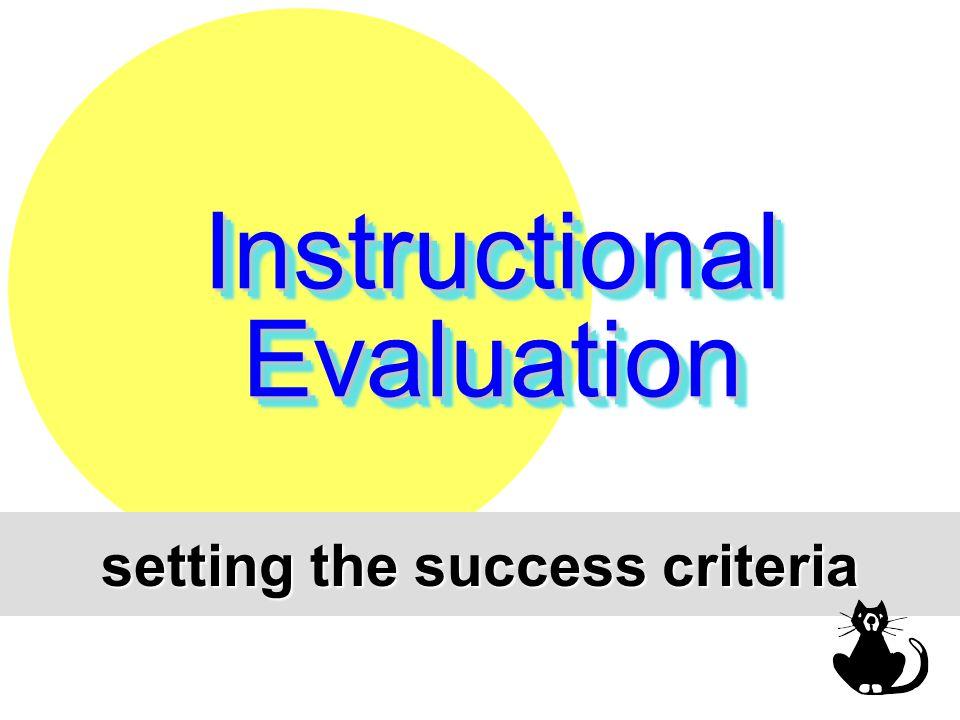setting the success criteria