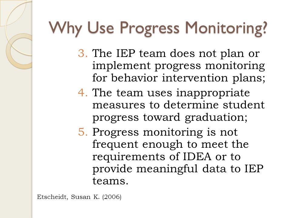 Why Use Progress Monitoring