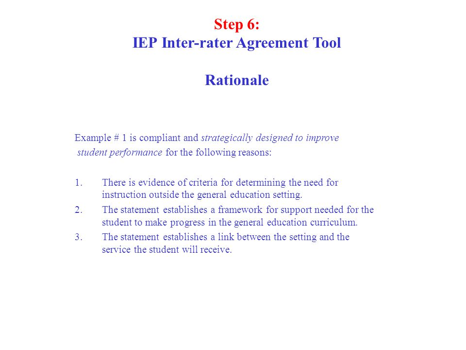 IEP Inter-rater Agreement Tool