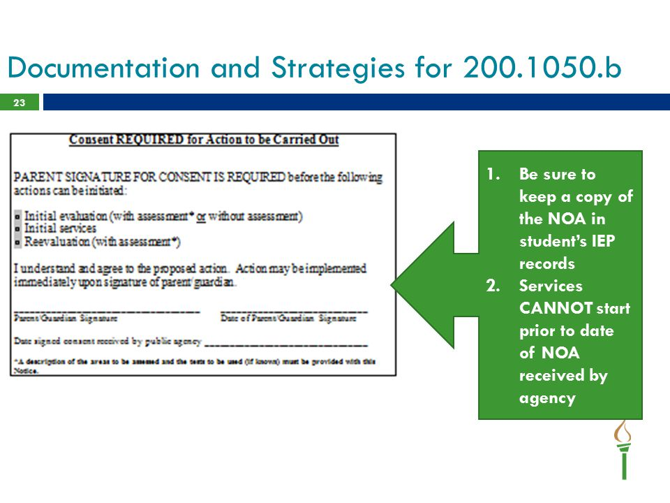 Documentation and Strategies for 200.1050.b