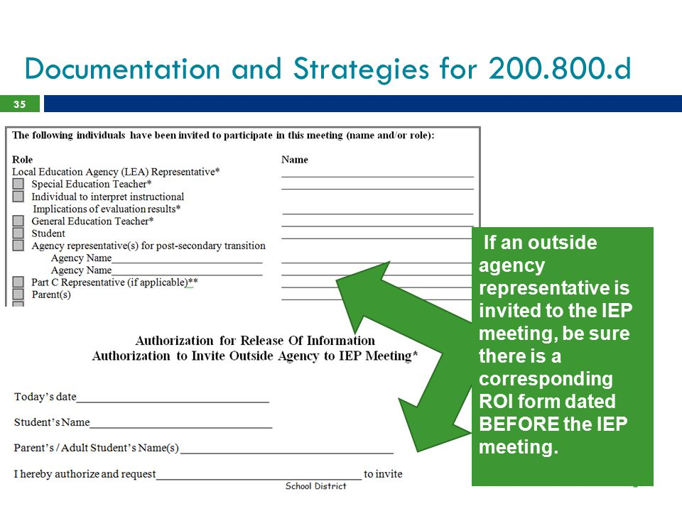 Documentation and Strategies for 200.800.d
