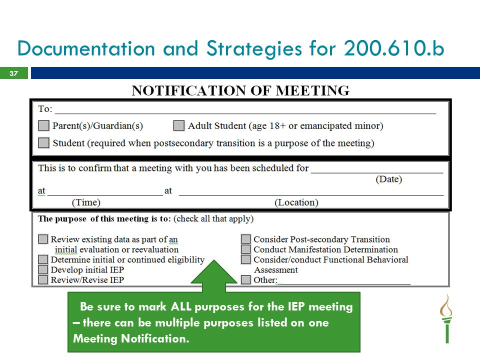 Documentation and Strategies for 200.610.b