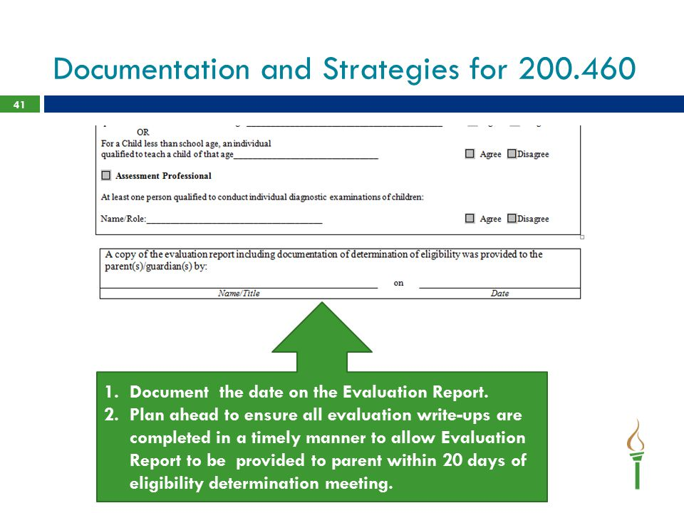 Documentation and Strategies for 200.460