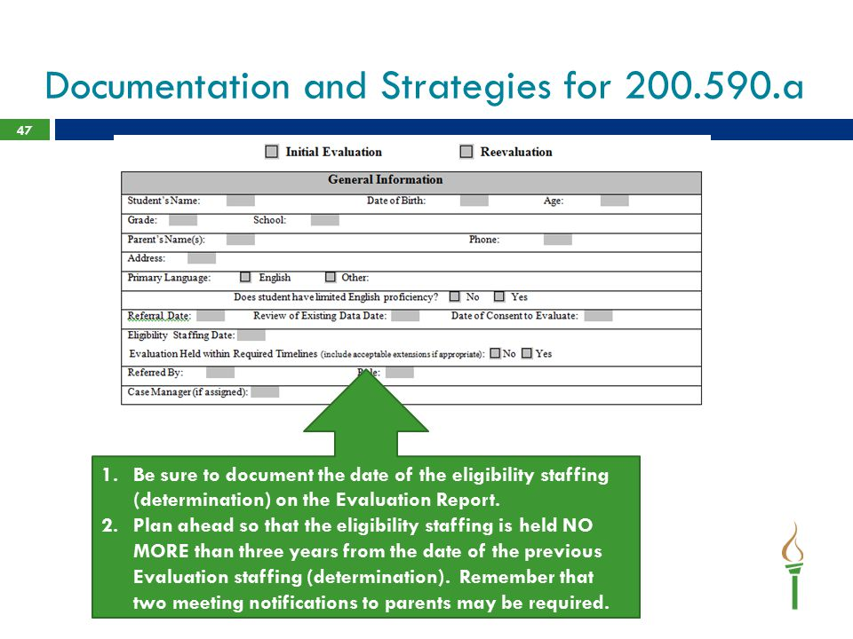 Documentation and Strategies for 200.590.a