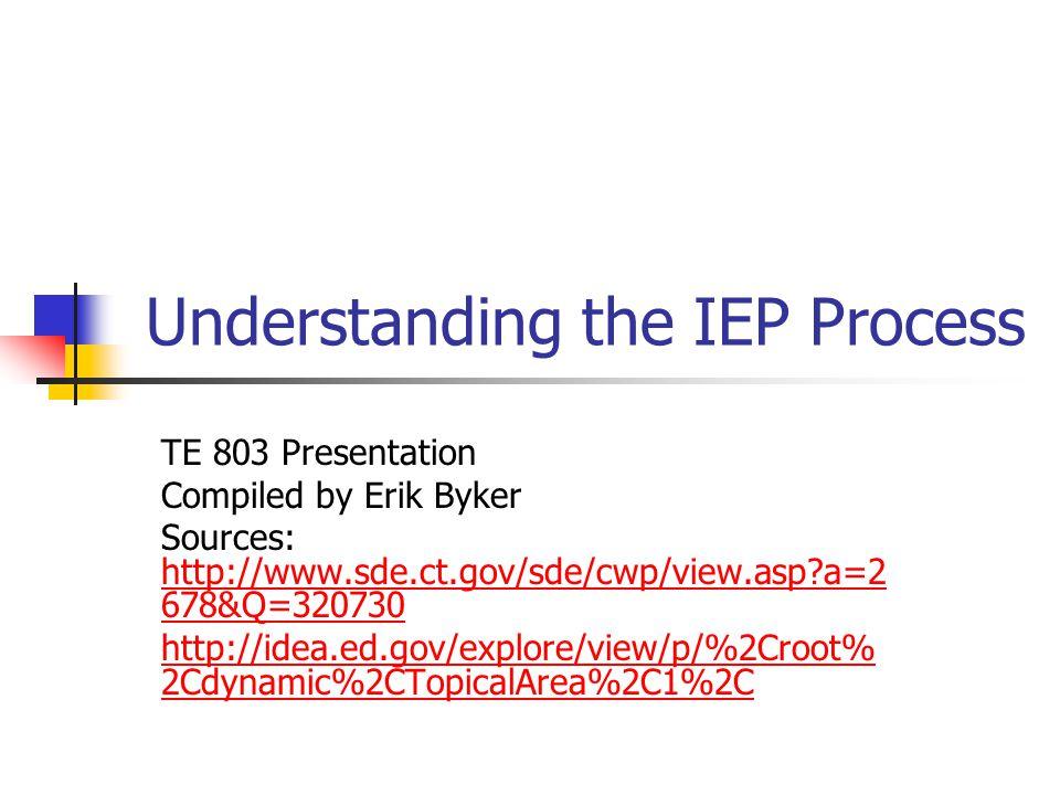 Idea And Iep Process >> Understanding The Iep Process