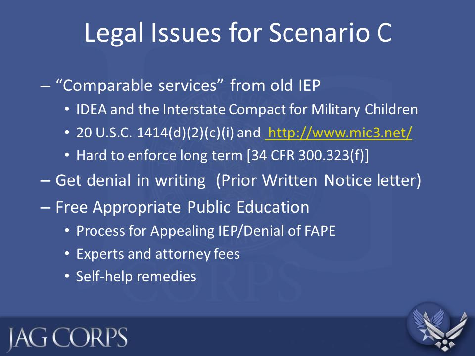 Legal Issues for Scenario C