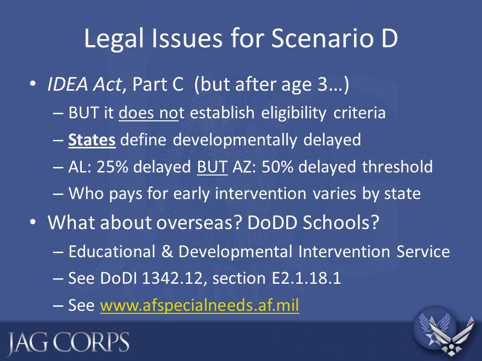 Legal Issues for Scenario D