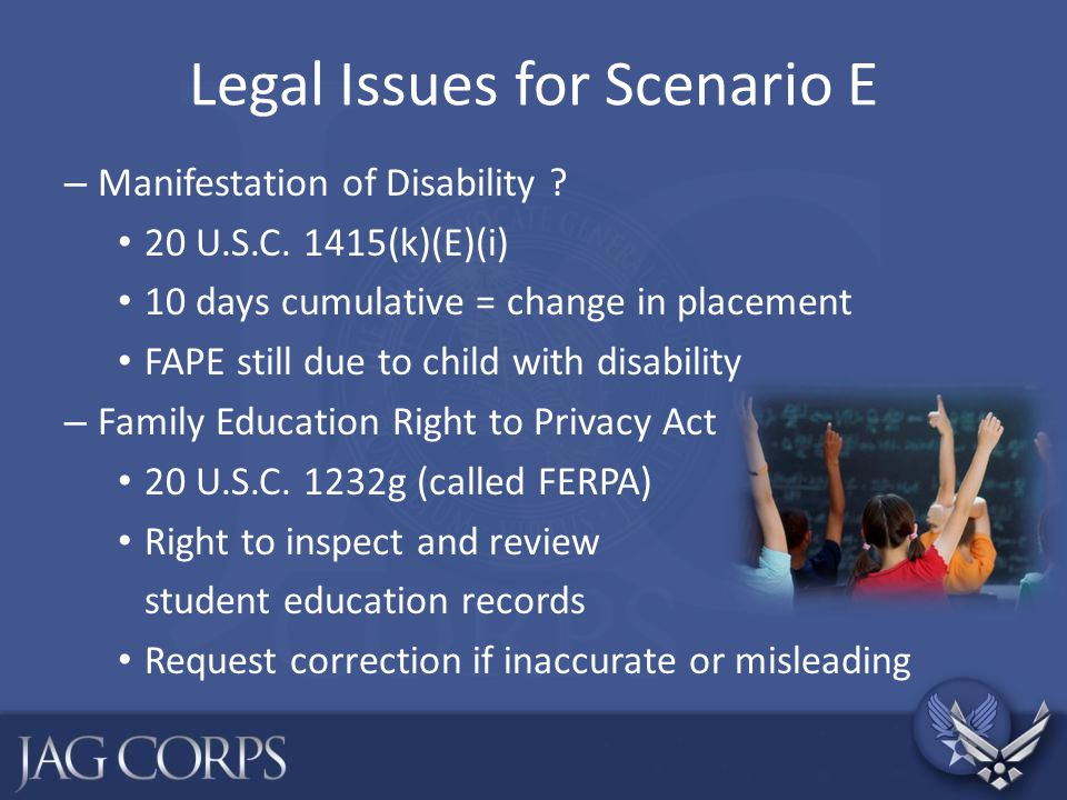 Legal Issues for Scenario E