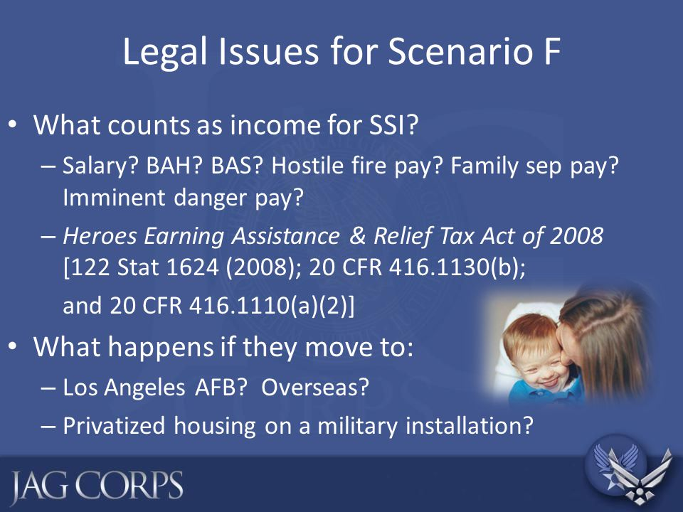 Legal Issues for Scenario F
