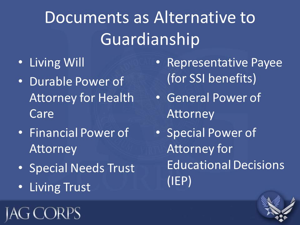 Documents as Alternative to Guardianship