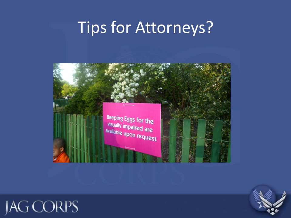 Tips for Attorneys
