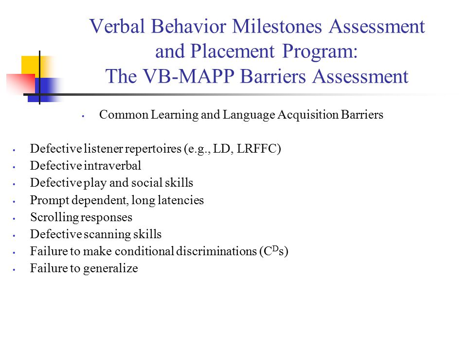 Common Learning and Language Acquisition Barriers