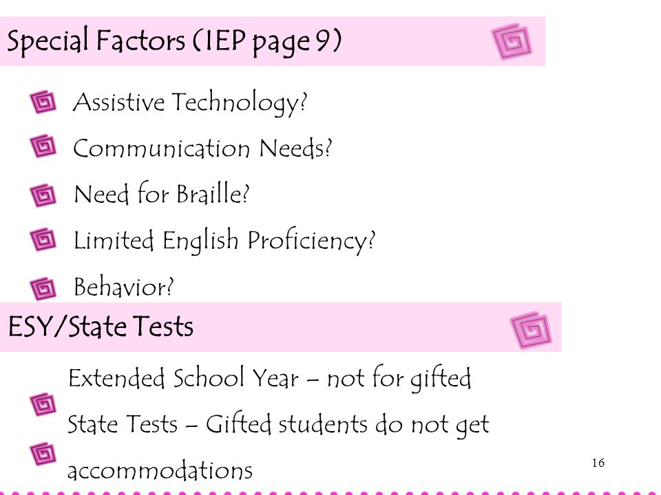 Special Factors (IEP page 9)