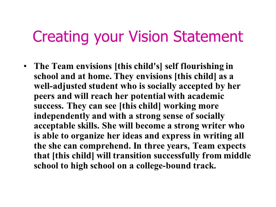 Creating your Vision Statement