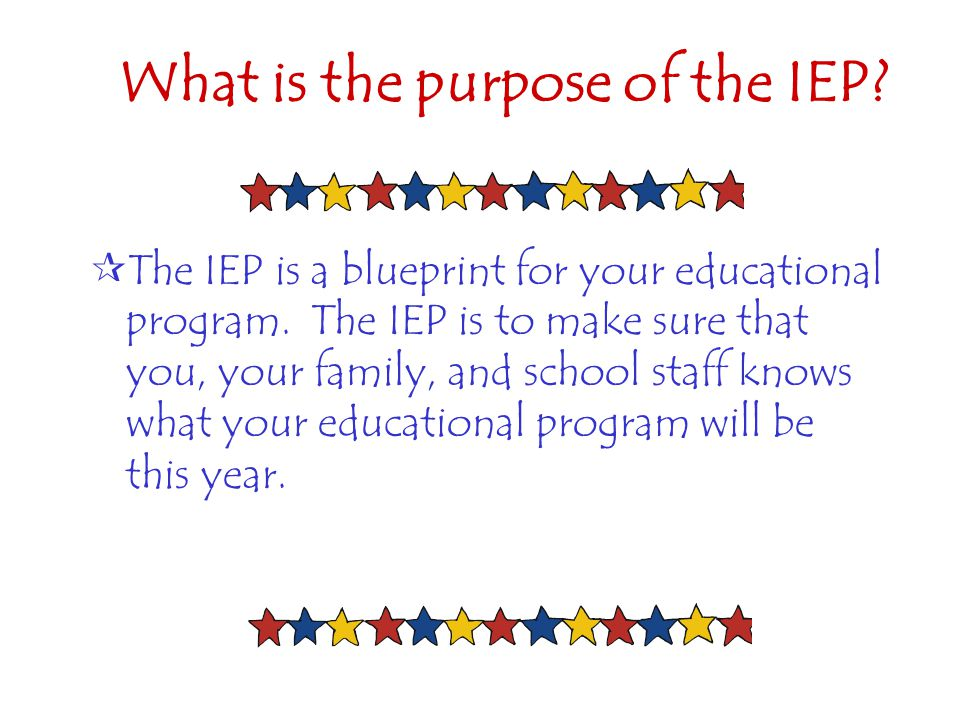 What is the purpose of the IEP