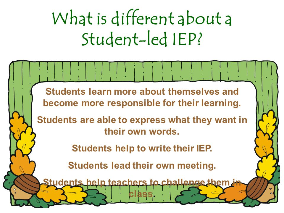 What is different about a Student-led IEP