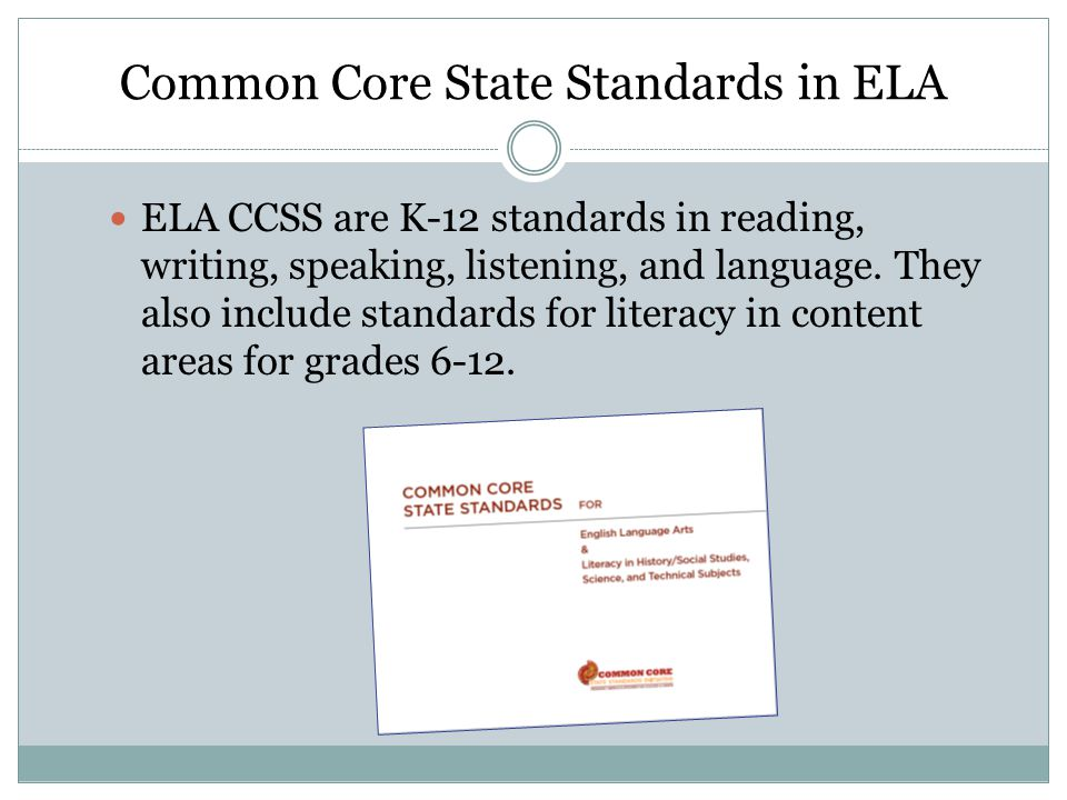 Common Core State Standards in ELA