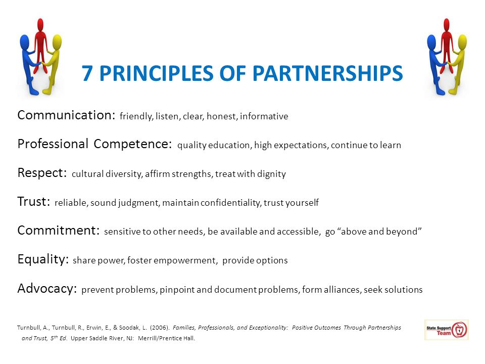 7 PRINCIPLES OF PARTNERSHIPS