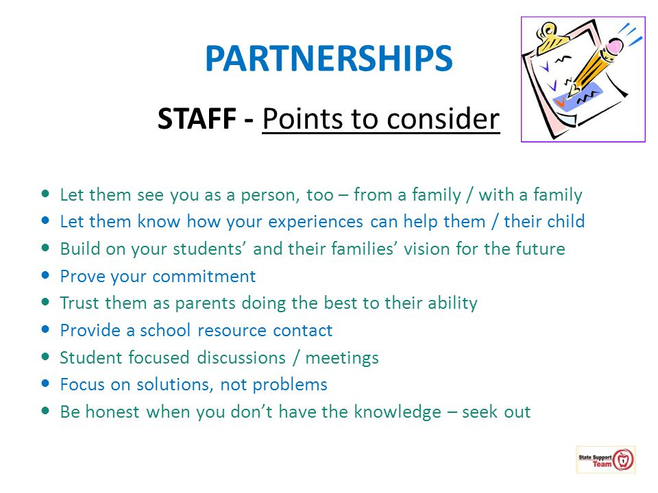 STAFF - Points to consider