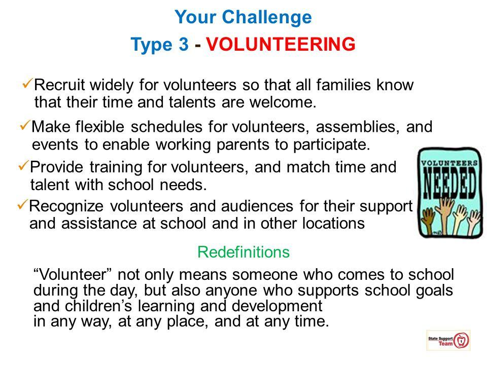 Your Challenge Type 3 - VOLUNTEERING