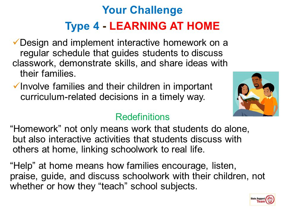 Your Challenge Type 4 - LEARNING AT HOME